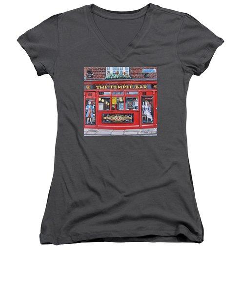Temple Bar Dublin Ireland Women's V-Neck T-Shirt