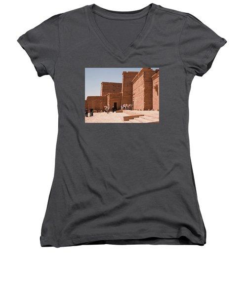 Temple Building Women's V-Neck (Athletic Fit)