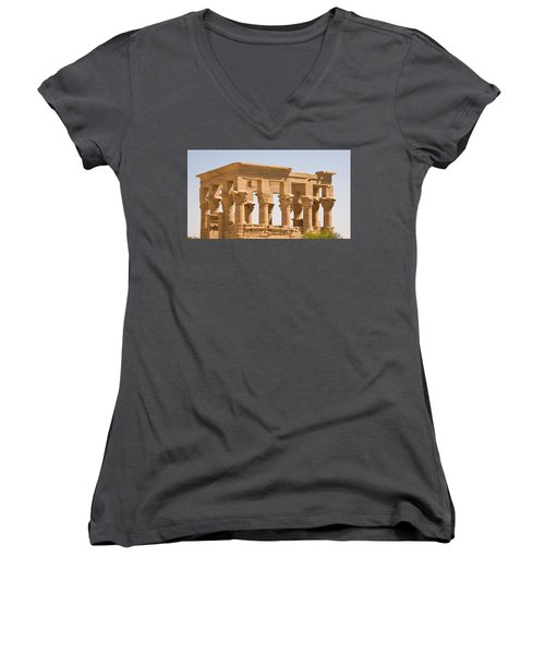 Temple Out Building Women's V-Neck (Athletic Fit)
