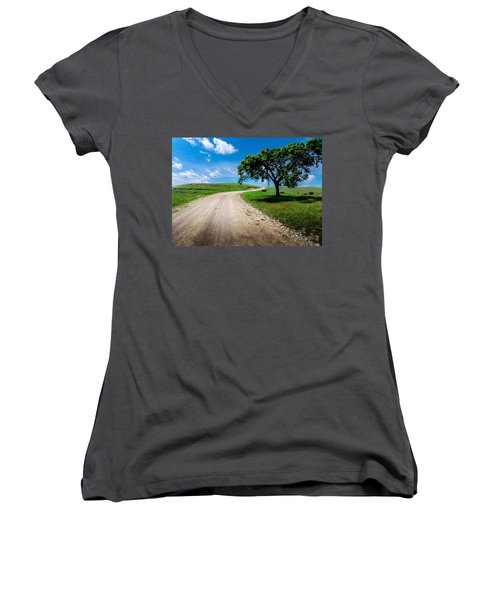 Texaco Hill Women's V-Neck T-Shirt