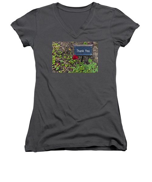 Thank You Women's V-Neck (Athletic Fit)