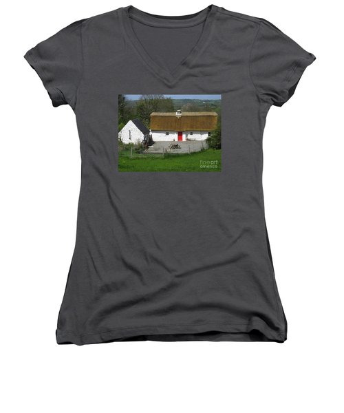 Thatched Cottage Women's V-Neck T-Shirt