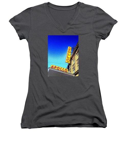The Apollo Women's V-Neck T-Shirt (Junior Cut) by Gilda Parente