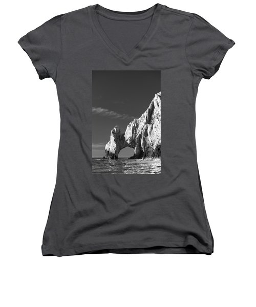 The Arch In Black And White Women's V-Neck