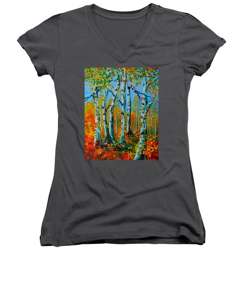 The Aspens Women's V-Neck T-Shirt