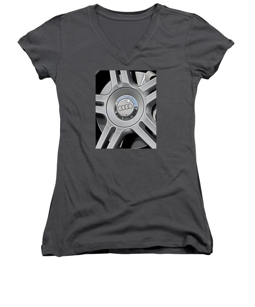 The Audi Wheel Women's V-Neck (Athletic Fit)