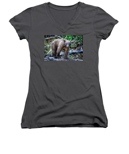 Women's V-Neck T-Shirt (Junior Cut) featuring the photograph The Balance Beam by Jim Thompson