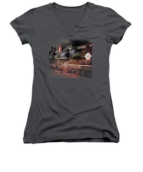 The Baldwin Women's V-Neck T-Shirt