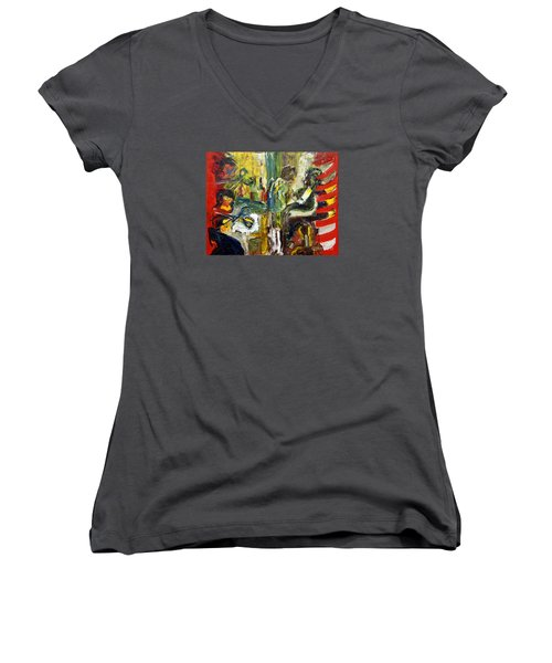 The Barbers Shop - 1 Women's V-Neck T-Shirt