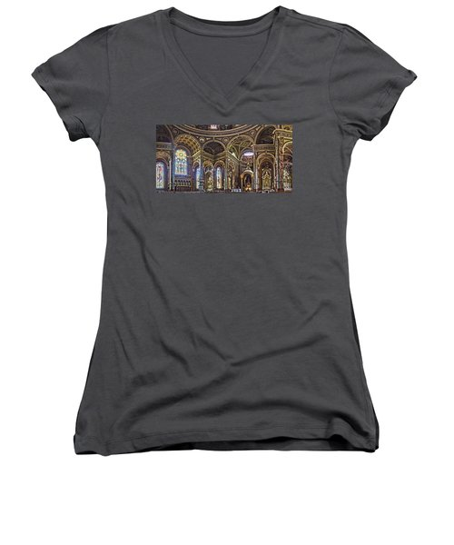 The Basilica Of St. Josaphat Women's V-Neck