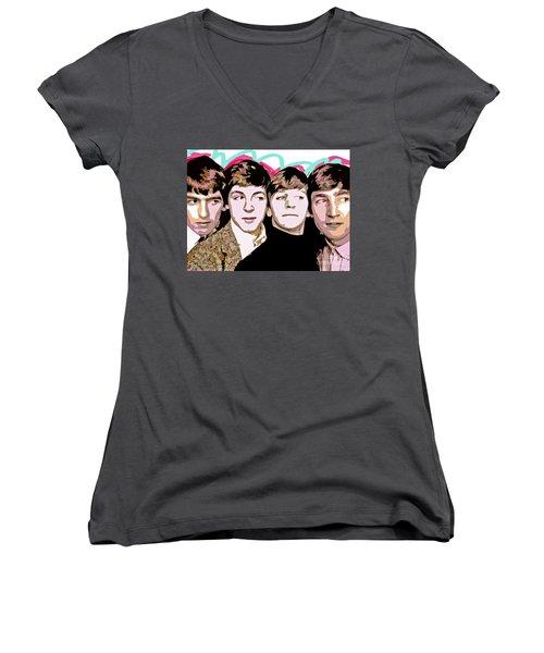 The Beatles Love Women's V-Neck