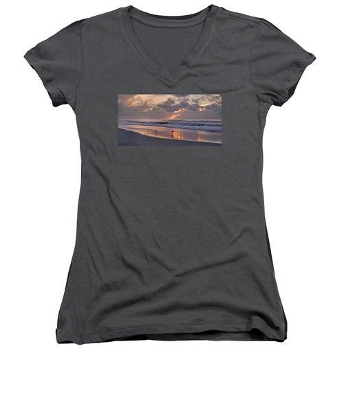 The Best Kept Secret Women's V-Neck T-Shirt (Junior Cut) by Betsy Knapp
