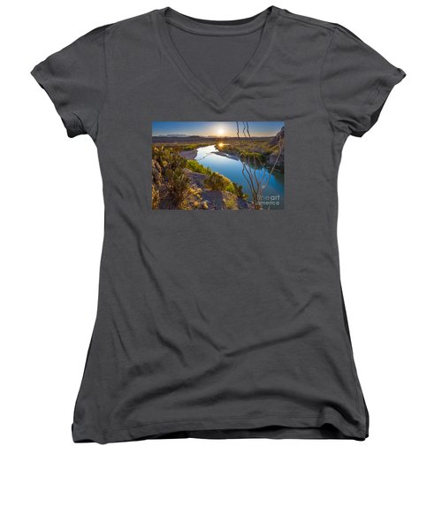 The Big Bend Women's V-Neck (Athletic Fit)