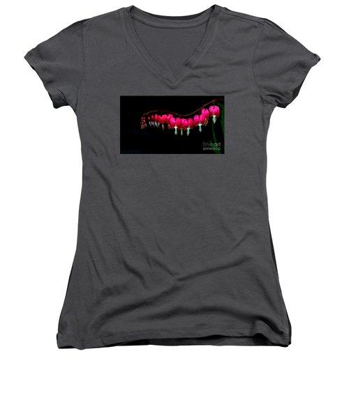 The Bleeding Heart Women's V-Neck (Athletic Fit)