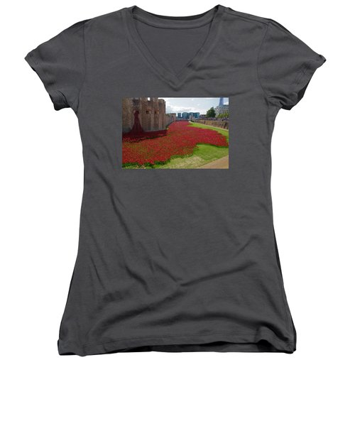 The Bloody Tower Women's V-Neck T-Shirt