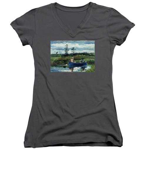 The Blue Boat Women's V-Neck T-Shirt