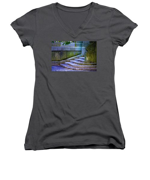 The Blue Stairs Women's V-Neck (Athletic Fit)