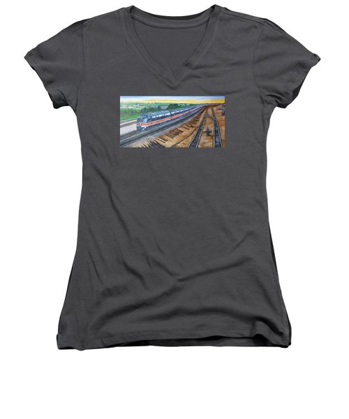 The City Of New Orleans Women's V-Neck (Athletic Fit)