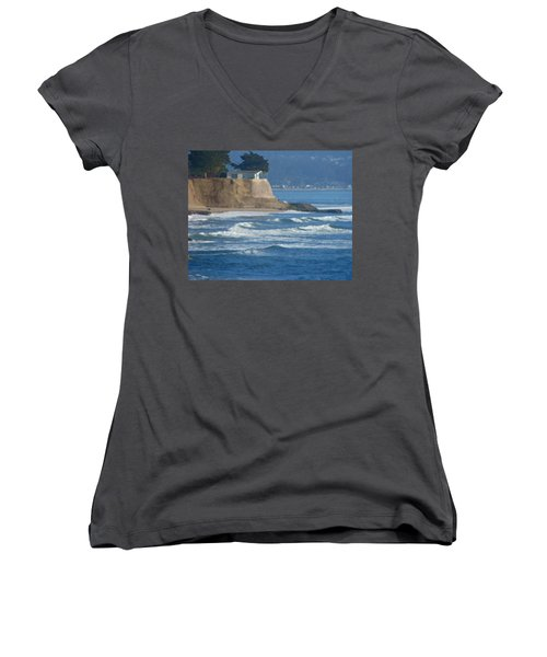 The Cliff House Women's V-Neck (Athletic Fit)