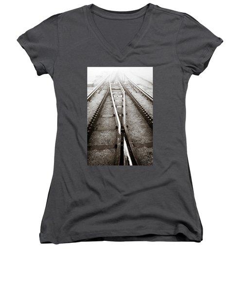 The Cog Railway Women's V-Neck