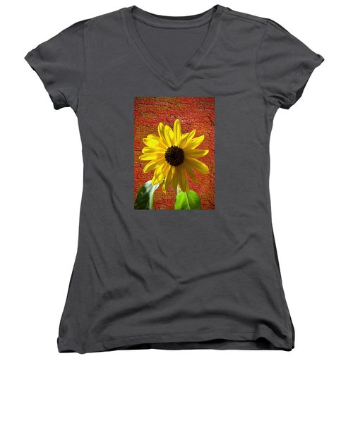 The Contrast Of Time Women's V-Neck T-Shirt (Junior Cut) by Sandi OReilly