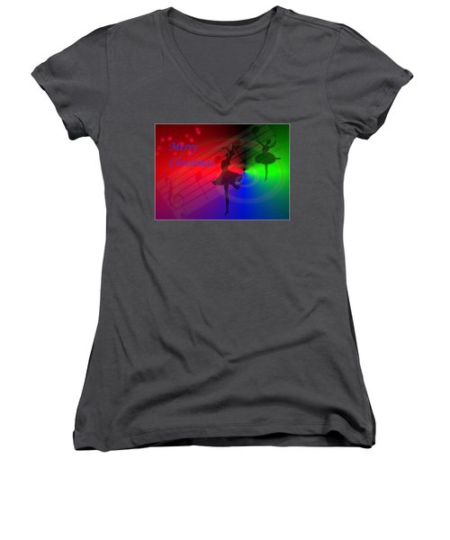 The Dance - Merry Christmas Women's V-Neck (Athletic Fit)