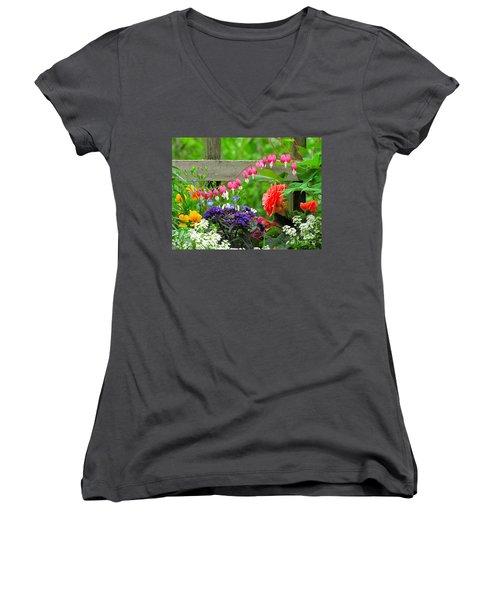 The Dance Of Spring Women's V-Neck T-Shirt
