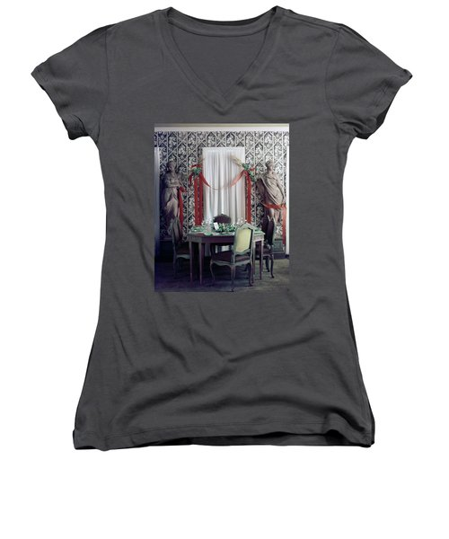 The Dining Room In James A. Beard's Home Women's V-Neck