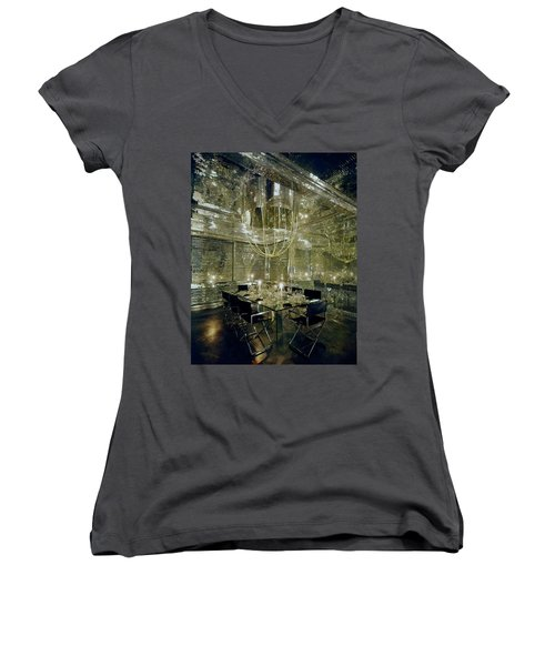 The Dining Room Of Ara Gallant's Apartment Women's V-Neck
