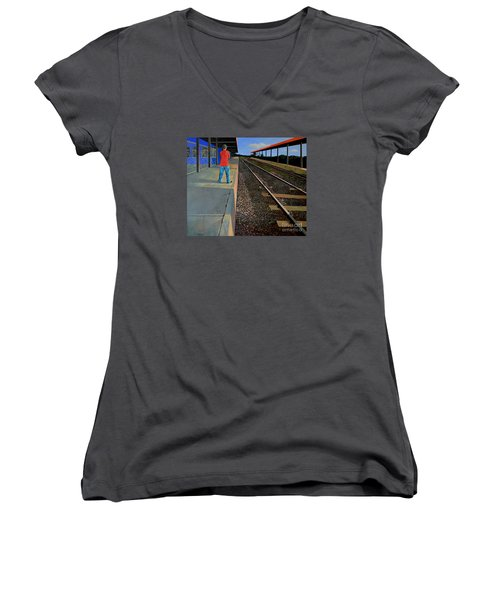 The Distance Of Solitude Women's V-Neck (Athletic Fit)