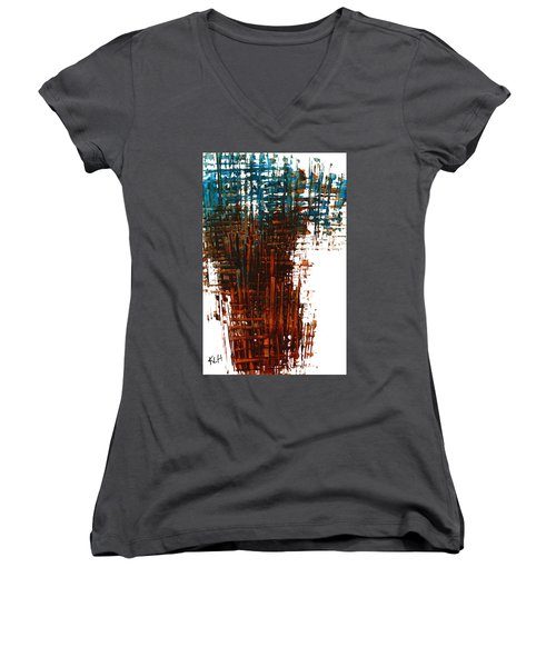 The Divine In Us 265.111011 Women's V-Neck T-Shirt (Junior Cut) by Kris Haas