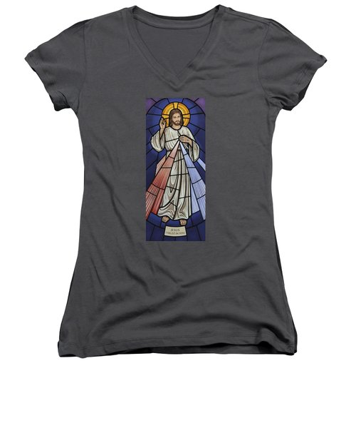 The Divine Mercy Women's V-Neck (Athletic Fit)