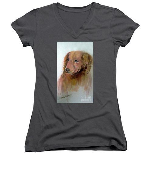 The Doggie Women's V-Neck