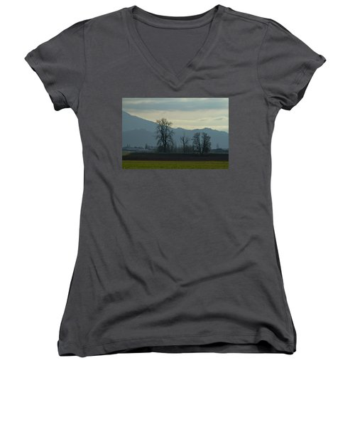 Women's V-Neck T-Shirt (Junior Cut) featuring the photograph The Eagle Tree by Eti Reid