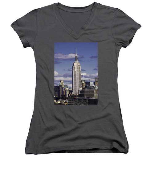 The Empire State Building Women's V-Neck T-Shirt