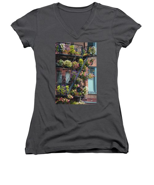 The Fire Escape Women's V-Neck (Athletic Fit)