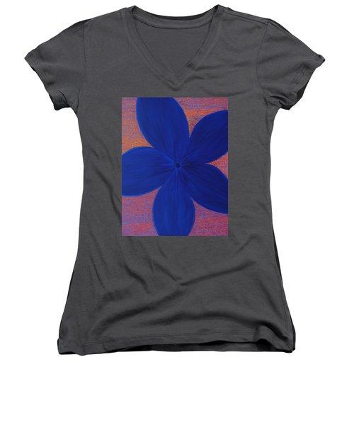 The Flower Women's V-Neck T-Shirt (Junior Cut)