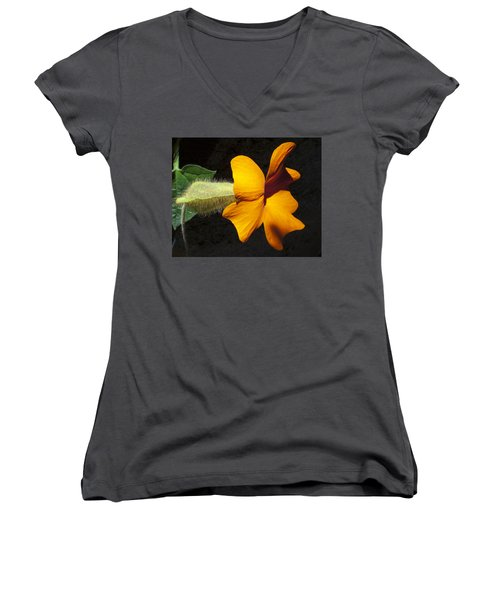 Women's V-Neck T-Shirt (Junior Cut) featuring the photograph The Force That Through The Green Fuse ... by Joe Schofield