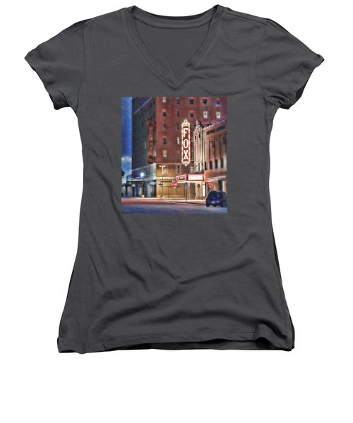 The Fox After The Show Women's V-Neck (Athletic Fit)