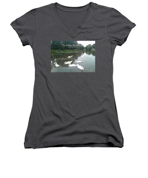 The Future Has Arrived Women's V-Neck T-Shirt