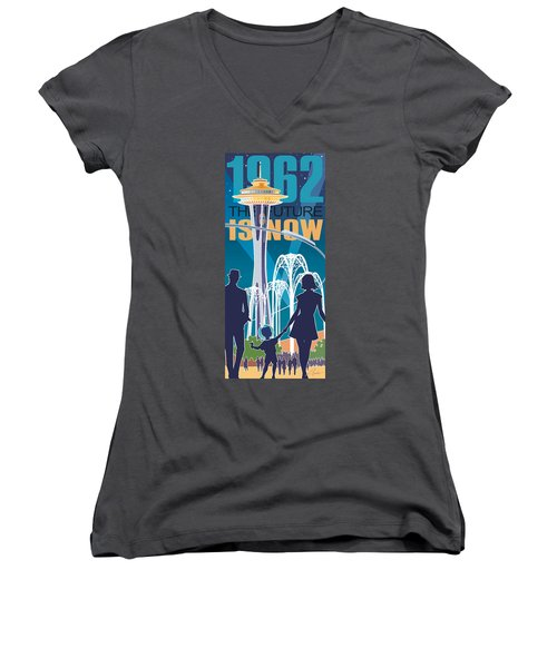 The Future Is Now - Night Time Women's V-Neck T-Shirt