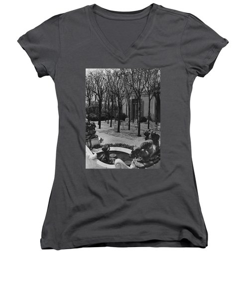 The Garden Of A Home In Meridian Hill Women's V-Neck