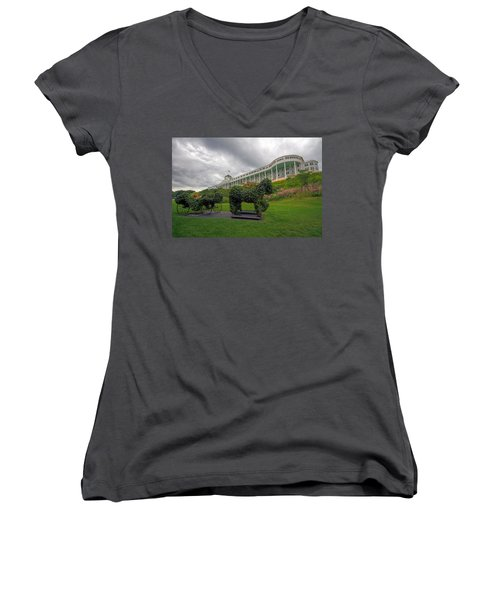 The Grand Hotel Mackinac Island Women's V-Neck (Athletic Fit)