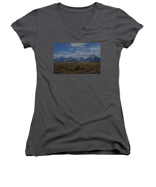The Grand Tetons Women's V-Neck