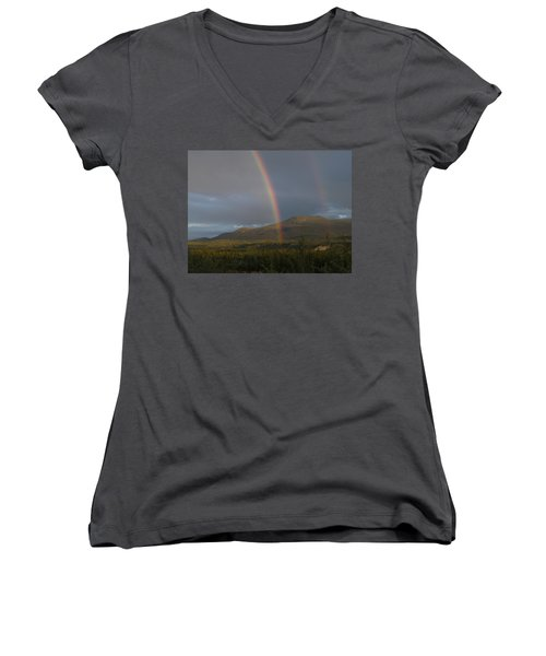 The Great Divide Women's V-Neck T-Shirt (Junior Cut) by Brian Boyle