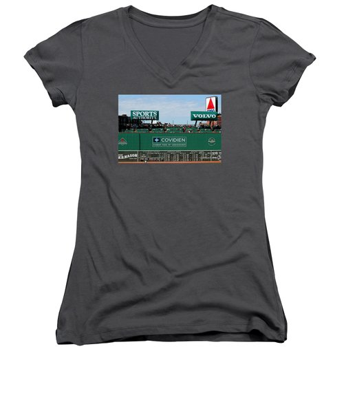 The Green Monster 99 Women's V-Neck T-Shirt (Junior Cut) by Tom Prendergast
