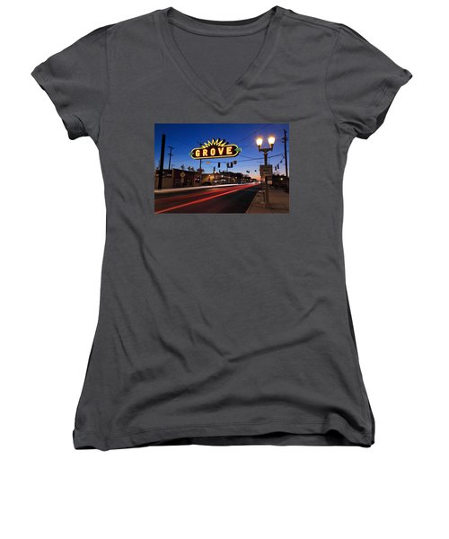 The Grove In Twilight Women's V-Neck (Athletic Fit)