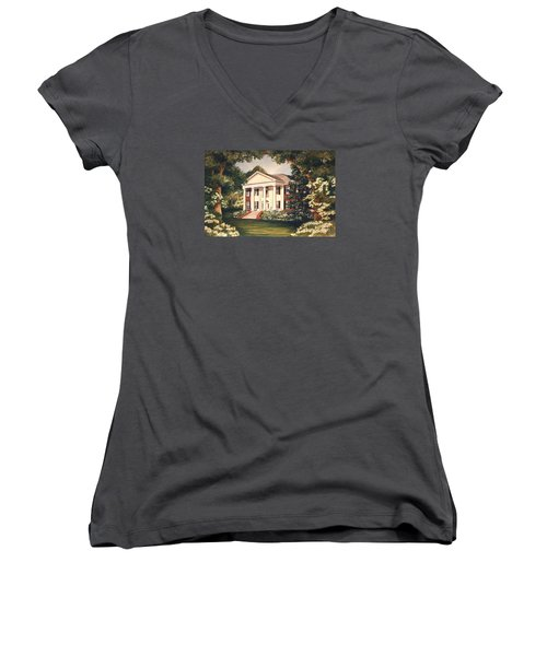 The Grove Tallahassee Florida Women's V-Neck (Athletic Fit)