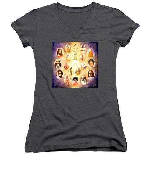 The Guru Tattva Women's V-Neck T-Shirt (Junior Cut) by Ananda Vdovic