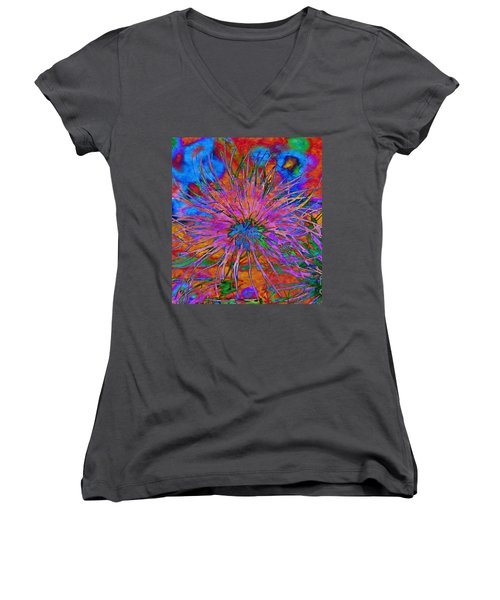 The Heart Of The Matter.. Women's V-Neck T-Shirt (Junior Cut) by Jolanta Anna Karolska